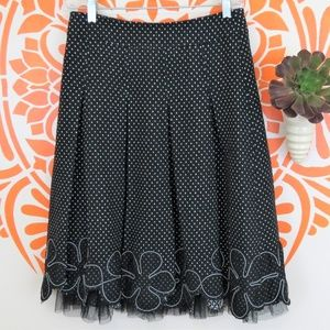 Adorable Wool Skirt with Flowers and Petticoat S